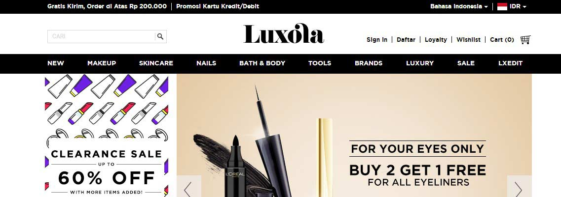 official website luxola indonesia