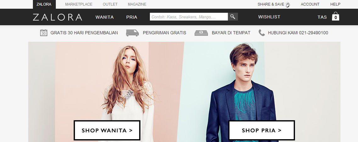 Online Shopping Zalora Indonesia