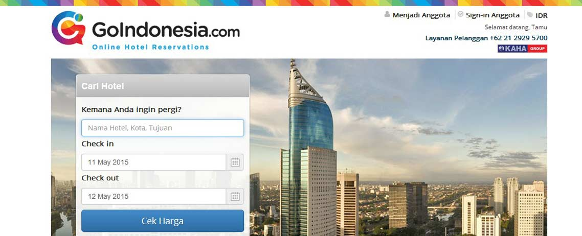 homepage for goindonesia.com